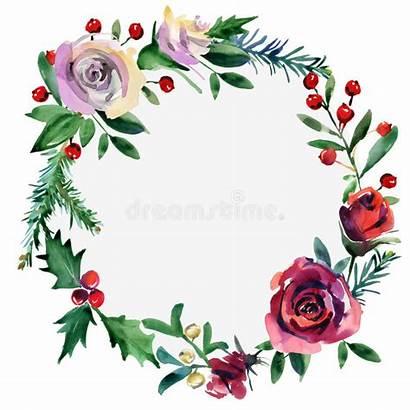 Floral Frame Rosa Holiday Nature Winter Illustrazione