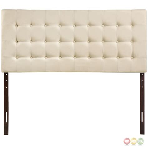 Plush Headboard by Tinble Plush Button Tufted Upholstered Headboard Ivory
