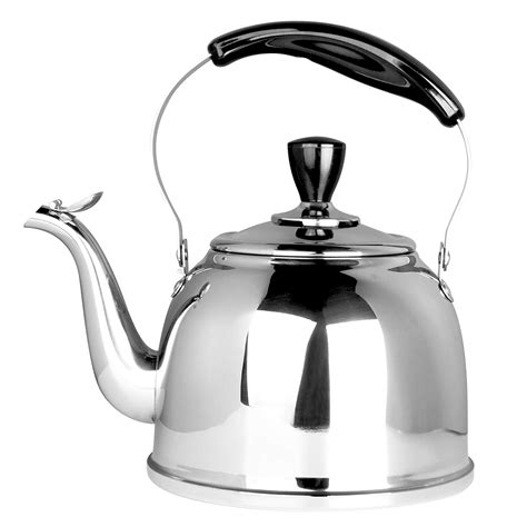 tea pot kettle steel stove stainless whistling teapot boiling teapots 2l lightweight thin fast base