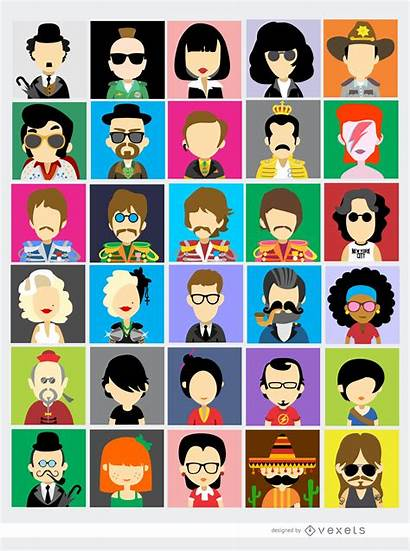 Famous Vector Avatars Beatles Figures Vectors Vexels