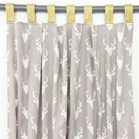 curtain panels woodland deer set   baby boy