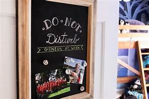 magnetic chalkboardmagnetic chalkboard project good times With what kind of paint to use on kitchen cabinets for dry erase board wall sticker