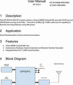 Wxflw001 User Manual User Manual Rev1