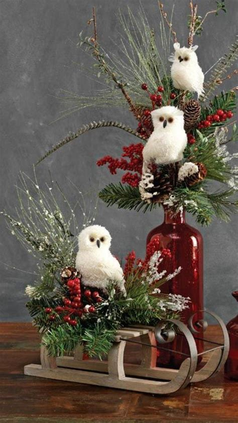 popular christmas table decorations  pinterest