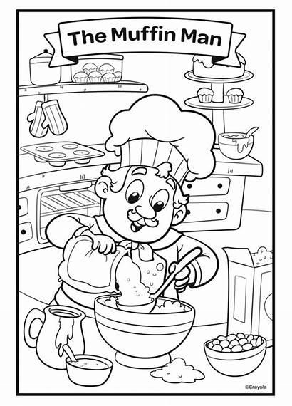 Muffin Nursery Coloring Rhymes Crayola Tree Disney
