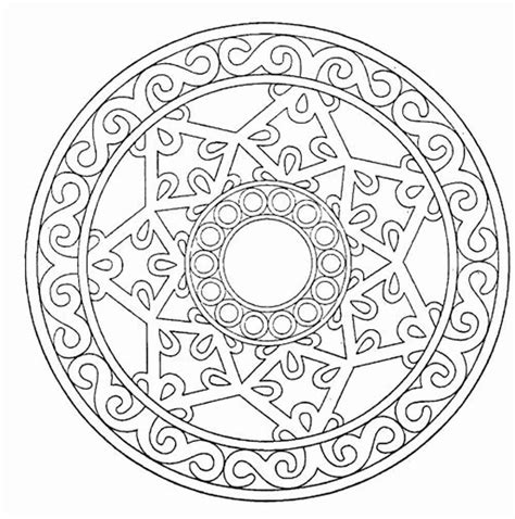 mandala adult coloring pages printable coloring home