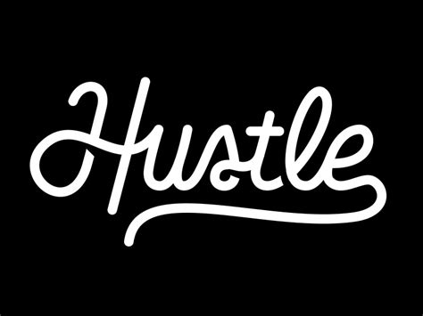 hustle logo  justin barber  dribbble