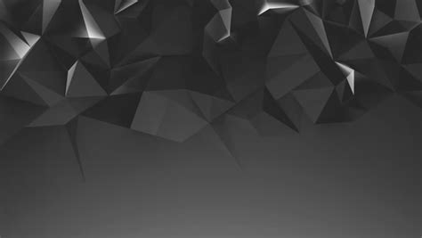 Abstract Black Triangle Background by Loopable 3d Rendered Abstract Waved Surface Made Of