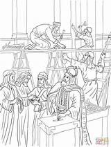 Coloring Temple Joash Bible Crafts Repairs Building King Kings Printable Repaired Colorare Tempio Preschool Children Ninos Biblia Supercoloring Historia Gerusalemme sketch template