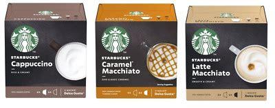 1 box of starbucks dolce gusto pods contains 6 caramel macchiato servings. Starbucks CAPUCCINO - CARAMEL MACCHIATO - LATTE MACCHIATO - 3*12 pods | eBay