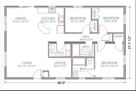 square foot house plan layout floor plans ranch pole barn house plans ranch style floor