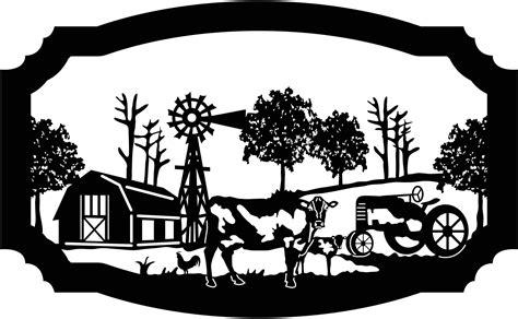 sign farm scene  barn  calf rooster windmill