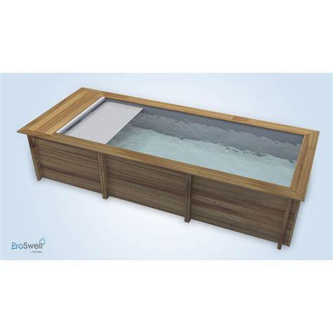 piscine hors sol bois urbaine l 2 5 x l 6 x h 1 33 m leroy merlin