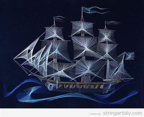 sailing ship string art string art diy  patterns