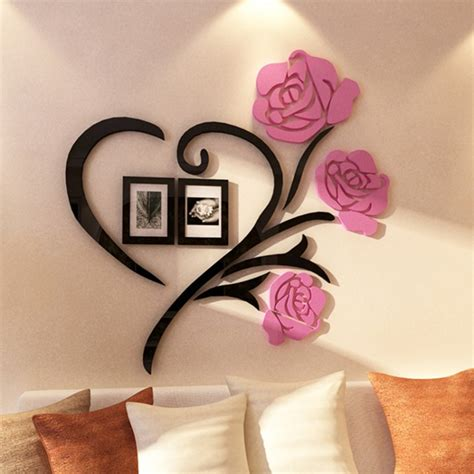 Abstract bunch of red heart shape helium balloons decoration on white background. Buy Flower and Heart Shape Acrylic Wall Art at | Elifor.pk