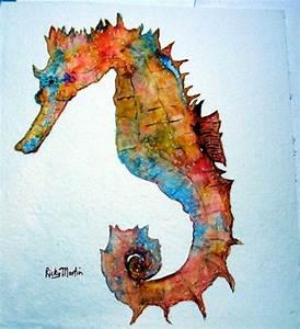 Seahorses on Pinterest | Seahorse Painting, Seahorse Art ...