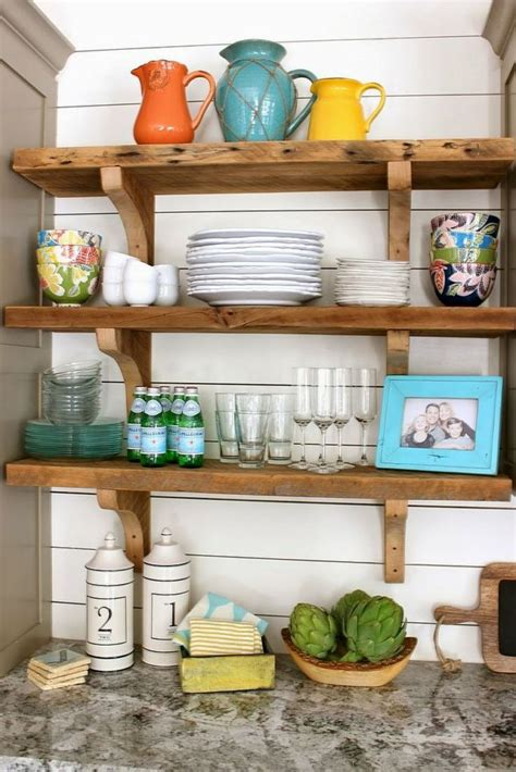country style kitchen shelves rustic wooden shelves bring country style to modern 6221