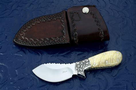 skinning knife designs quot nunavut quot custom handmade skinning knife by fisher