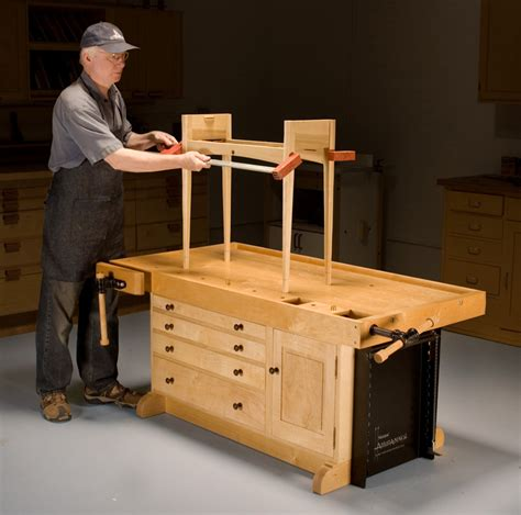 aw extra adjustable workbench popular woodworking magazine