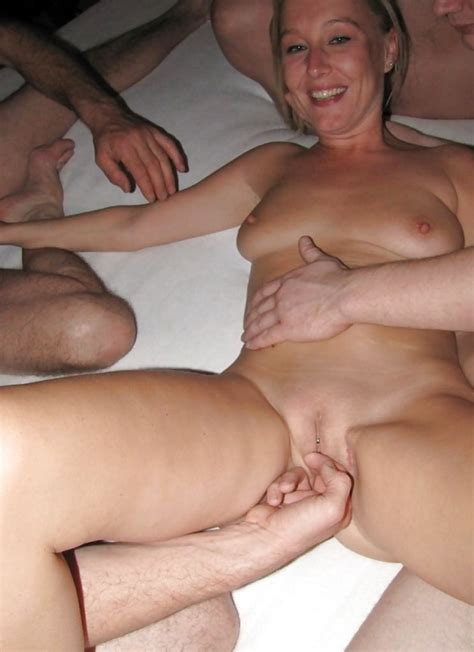Dutch Blond Inexperienced Mummy Gang Bang With Many