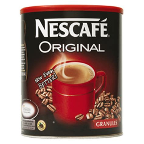 What makes the difference between different types of instant coffee is how the coffee extract is dried. Instant Coffee Granules 750G Nescafe Original Resealable Tin