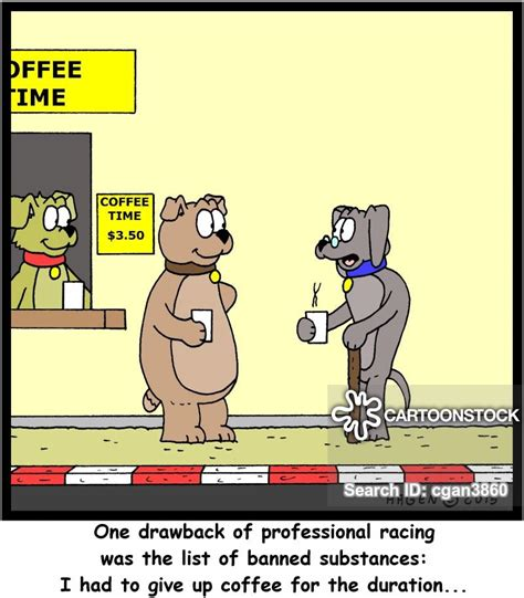 dog racers cartoons  comics funny pictures