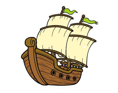 Barco De Vela Antiguo Dibujo dibujo de barco de vela pintado por lamar en dibujos net