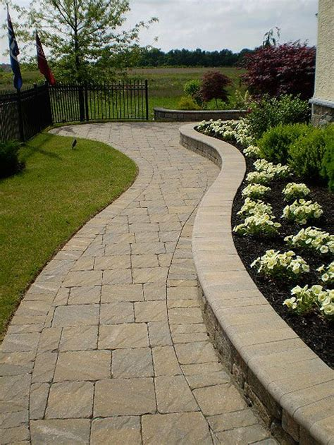 paver patterns for walkways pattern for walkway paver steps stone and timber ideas for the house pinterest stone