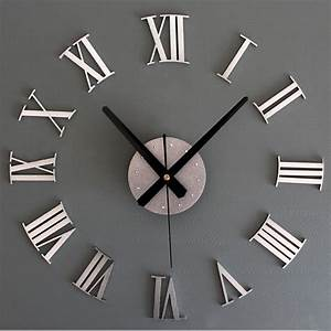 Luxury diy 3d wall clock large size surface home for Diy 3d wall clock