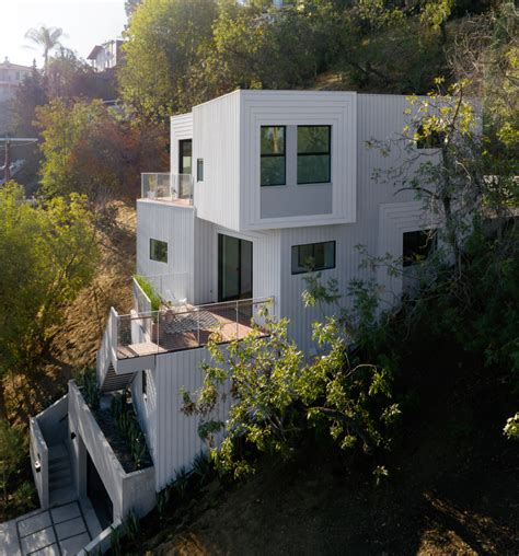 Stack House by Freelandbuck S Stack House Is Embedded Into A Los
