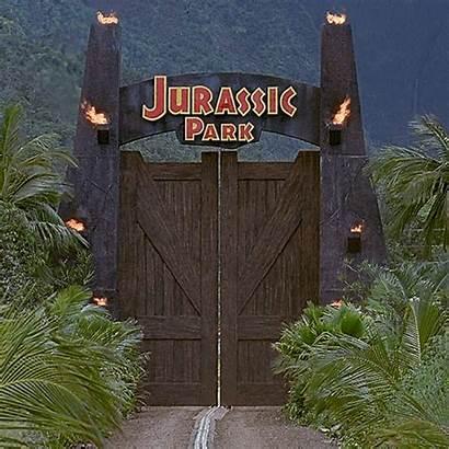 Jurassic Park Welcome Gifs Gate Gates Films