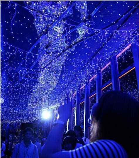 Galaxy Of Lights by 130 000 Led Lights On Tokyo Tower Creating A Blue Galaxy