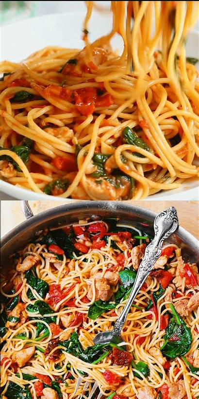 Chicken Pasta Healthy Tuscan Pot Instant Spinach