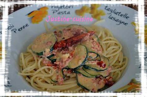recette de p 226 tes aux courgettes chorizo et tomates s 233 ch 233 es