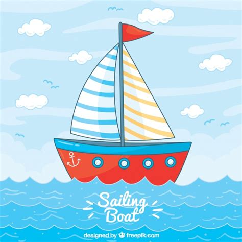 Boat Background Clipart by Sailing Boat Background Vector Free