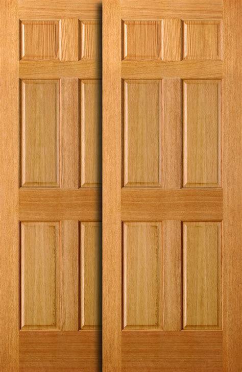6 panel wood sliding closet doors