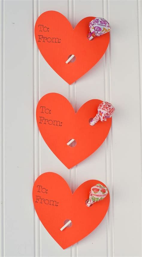 easy heart lollipop holder valentines   cricut