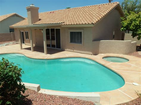 pool and patio bank owned home the sonoran style