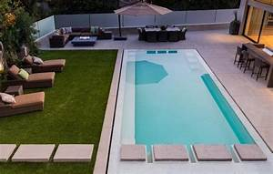 amenagement piscine de jardin idees et photos inspirantes With amenagement terrasse exterieure design 4 piscine exterieur 90 photos et idees inspirantes