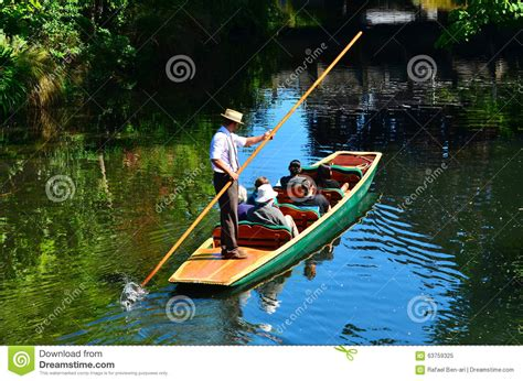 Boat Dealers Christchurch New Zealand by Punting On The Avon River Christchurch New Zealand Stock