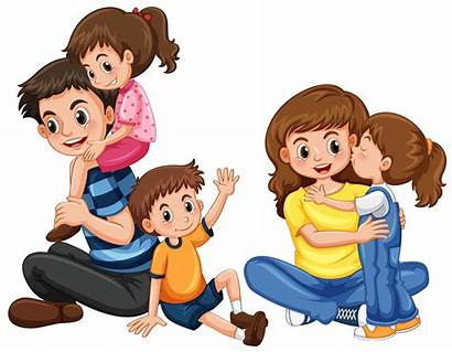 Father Mother Mom Clipart Three Vector Son