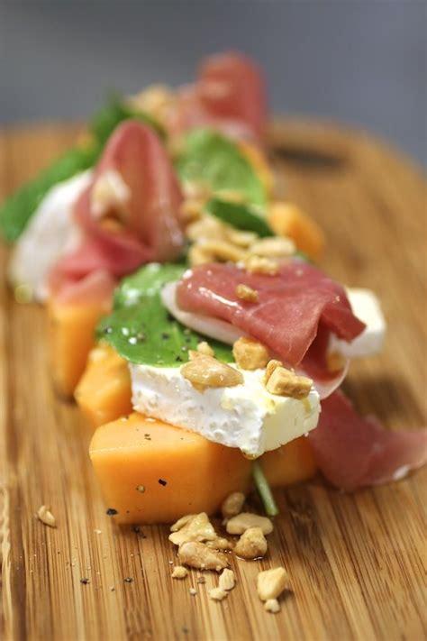 cuisine st andre melon salad cantaloupe prosciutto andré cheese