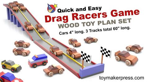 wood toy plans drag race car game youtube