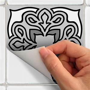 Stickers Carrelage Cuisine 15x15 : 15 stickers carrelages azulejos nuances de gris java ~ Dailycaller-alerts.com Idées de Décoration