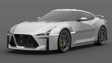 gen nissan gt  render  godzilla sharper teeth
