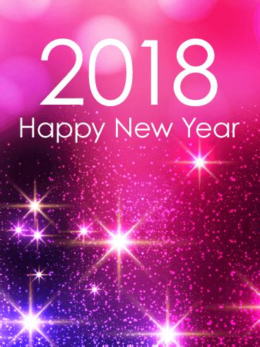 hppy new year 2018 kavithai pink glow happy new year card 2018 birthday greeting cards by davia