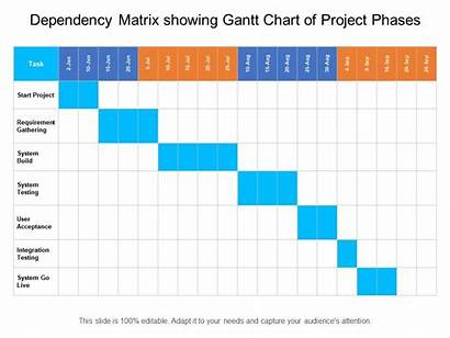 Dependency Matrix Chart Project Gantt Phases Showing