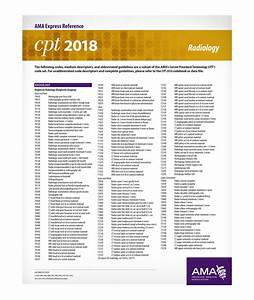 Cpt 2019 Express Reference Coding Card  Radiology  Er408219