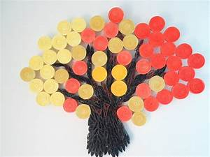 Wall decoration orange yellow hanging autumn fall tree