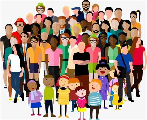 Crowd, Cartoon Characters, Illustration, Character Png